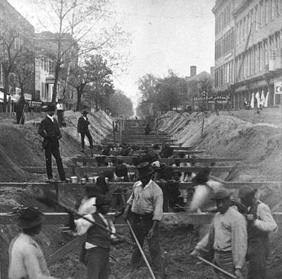 Sewer Digging Art Print by Hulton Archive