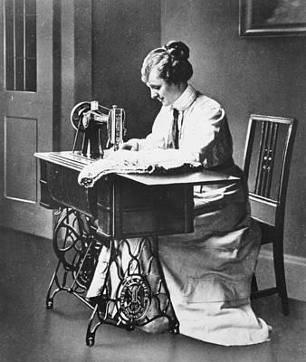 Sewing Machine Art Print by Hulton Archive