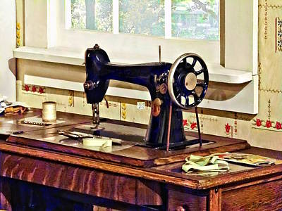 Photograph - Sewing Machine In Kitchen by Susan Savad