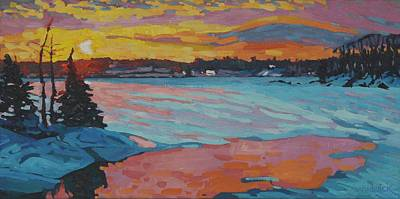Painting - Shades Of Singleton Sunset by Phil Chadwick