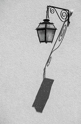 Photograph - Shadow Lamp Bw by David Letts