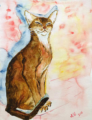 Painting - Shadow of Bastet by Marianna MO Warr