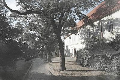 Photograph - Shadow Path To Loreta. Prague Vintage by Jenny Rainbow