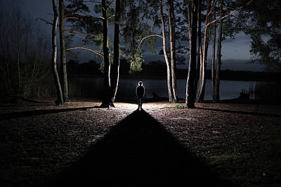 Photograph - Shadowed Figure by A Creation Of Samuelbradleyphotography.com