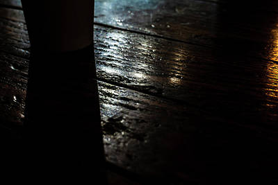 Photograph - Shadows On A Wood Table by Jeanette Fellows