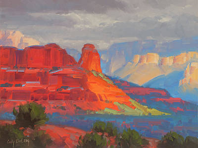 Line Drawing Quibe - Shadows on the move Sedona by Cody DeLong