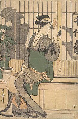 Relief - Shadows On The Shoji by Kitagawa Utamaro