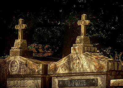 Photograph - Shadowy Cemetery by Jean Noren