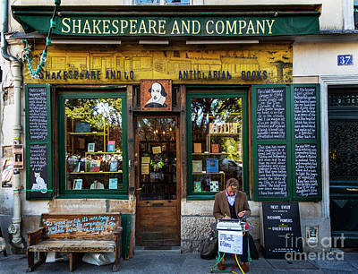 Photograph - Shakespeare And Company Bookstore by Craig J Satterlee