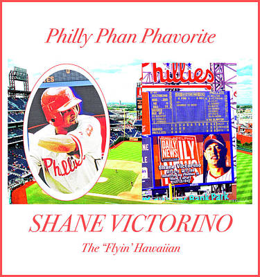 Photograph - Shane Victorino, Philly Phan Phavorite by A Gurmankin