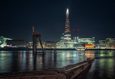 Photograph - Shard From North Bank by James Billings