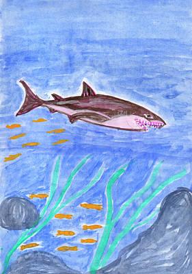 Painting - Shark by Dobrotsvet Art