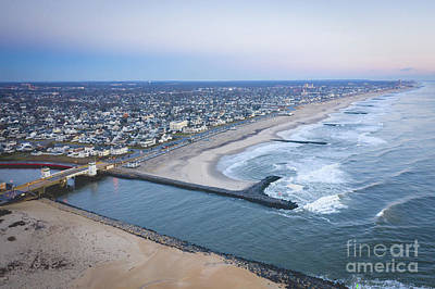 Photograph - Shark River Inlet From Above  by Michael Ver Sprill