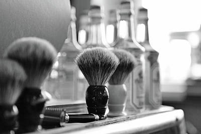 Photograph - Shaving Brushes At Barbershop by Lorado