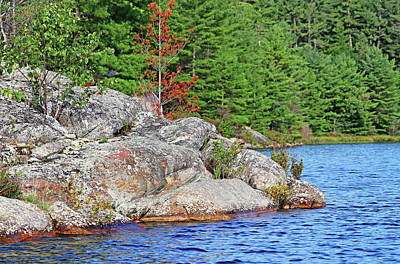 Photograph - Shawanaga Rock Formation by Debbie Oppermann