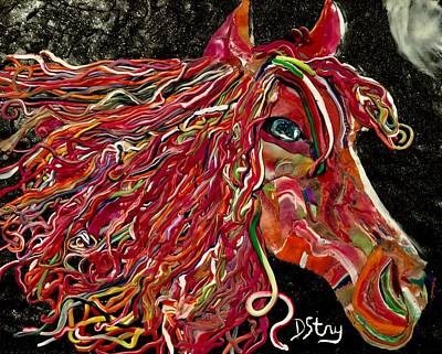Mixed Media - She Is A Lady by Deborah Stanley