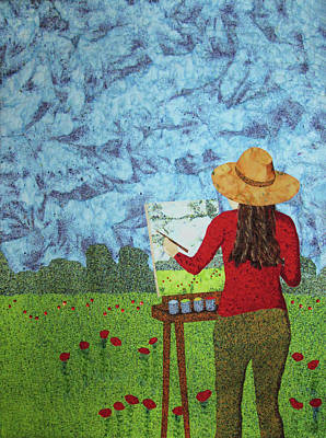 Tapestry - Textile - She Paints With Fabric by Pam Geisel