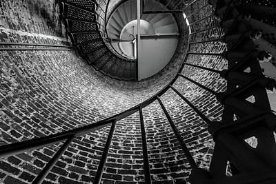 Photograph - She Stares Up The Stairs by Peter Tellone