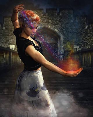 Digital Art - She Works Magic by Charlie O'Brien