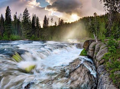 Photograph - Falls River by Leland D Howard
