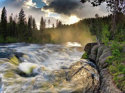 Photograph - Sheep Falls Sunset by Leland D Howard
