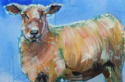 Painting - Sheep Looking Right At You by Mike Jory