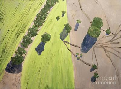 Painting - Sheep Tracks by Linda Lees