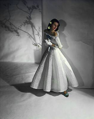 Photograph - Sheila Ross In Ceil Chapman by Horst P. Horst