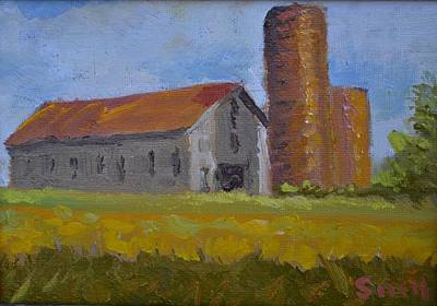Painting - Shelbyville Silo by Roger Snell
