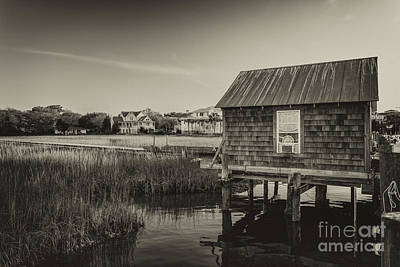 Photograph - Shem Creek Boat House by Dale Powell