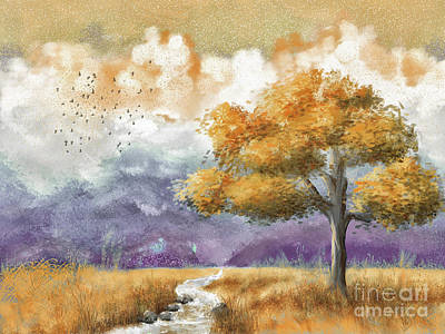 Digital Art - Shenandoah Autumn by Lois Bryan