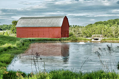Photograph - Shenandoah Red Barn Reflection by Lara Ellis