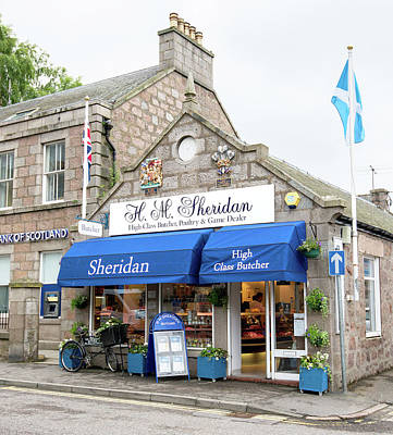Truck Art Rights Managed Images - Sheridan Butchers of Ballater with awarded royal warrants  Royalty-Free Image by Charles Hutchison