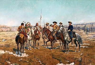 Painting - Sheridan's Campaign Custer's Demand by Charles Schreyvogel