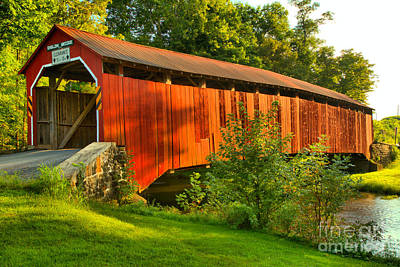Photograph - Sherman Creek Enslow Covered Bridge by Adam Jewell