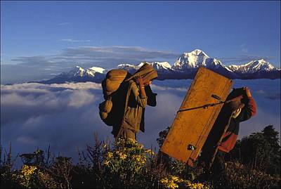 Photograph - Sherpas In Nepal On September 21th by Alain Buu
