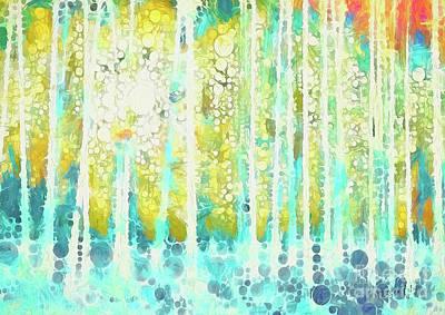 Wall Art - Mixed Media - Sherwood Pines Abstract Art by Amanda Lakey