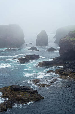 Photograph - Shetland Coast In The Mist by Arterra Picture Library