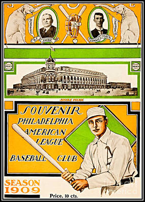 Painting - Shibe Park Grand Opening Philadelphia Athletics 1909 by Unknown