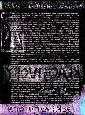 Relief - Shin Detonator Book Dada Page 110r2 by Artist Dot