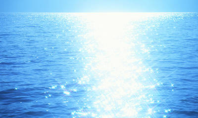 Sunlight Photograph - Shining Water by Ooyoo