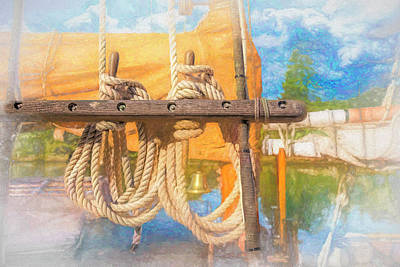 Photograph - Ship Art Rope by Bill Posner