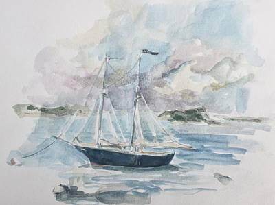 Ship Sketch Art Print