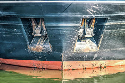 Photograph - Ship's Bow With Anchors by Frans Blok