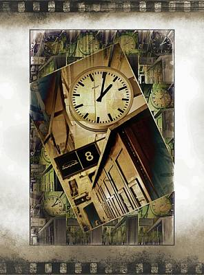 Digital Art - Ships Clock by Pete Hunt