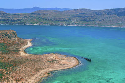 Photograph - Shipwreck At Imeri Gramvousa by Sun Travels