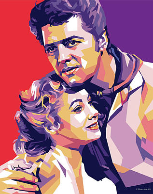 Colorful Button - Shirley Jones and Gordon MacRae by Stars on Art