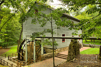 Photograph - Shoaff's Grist Mill Landscape by Adam Jewell
