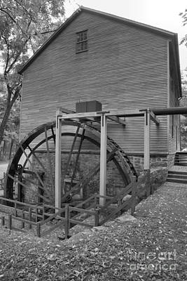 Photograph - Shoaff's Grist Mill Portrait Black And White by Adam Jewell