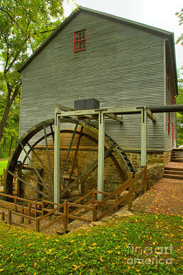 Photograph - Shoatt's Grist Mill Portrait by Adam Jewell